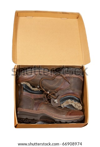 Pack with  men boots. Isolated on  white background