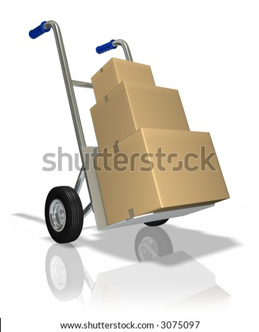 Package delivery (3D rendered illustration)