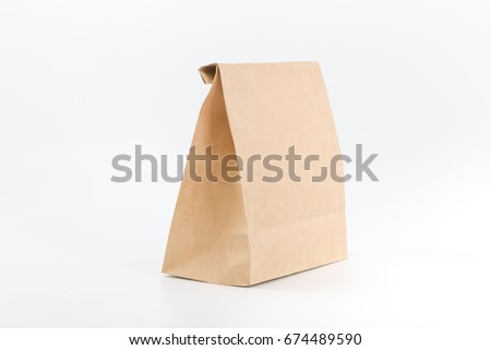 Package for products on white background. fast food. #674489590