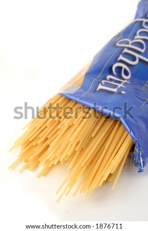 package of spaghetti spilling out