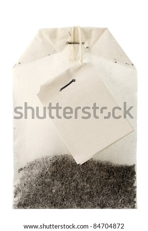 Package of Tea. Isolated. White background. Without shade.