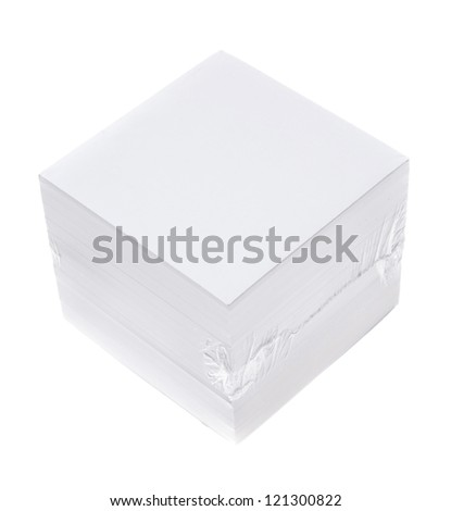 Packed block of note paper