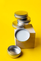 packing for the solid shampoo, solid shower gel. iron metal eco packaging for cosmetics storage