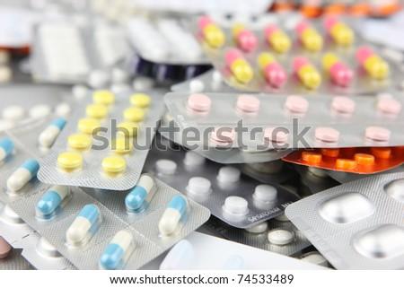 Packs of pills - stock photo