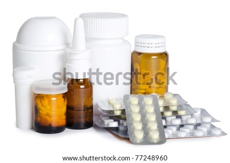 Packs of pills - abstract medical