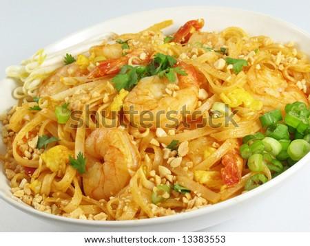 Pad Thai and Shrimp