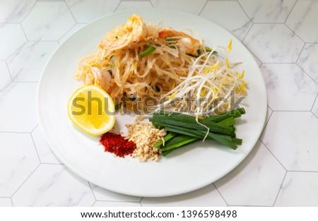 pad thai shirataki noodlea thai noodles #1396598498