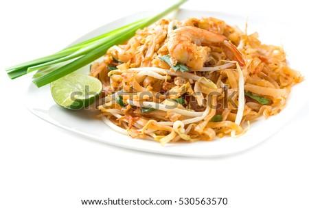 Pad thai shrimp #530563570