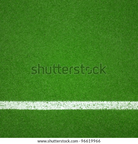 Paddle tennis green hard court texture  with white line can used as soccer or badminton background