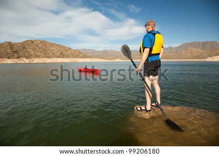 Paddler Separated From His Kayak (Emphasis on Man)