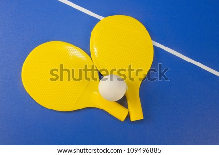Paddles and PIng Pong ball