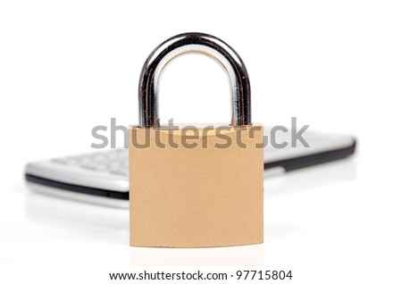 Padlock and cell phone