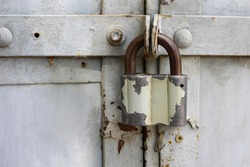 Padlock as a symbol of secrecy, secrecy and security