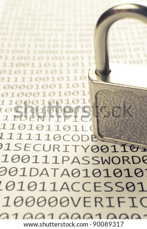 Padlock is on the list with a binary code and few words about safety