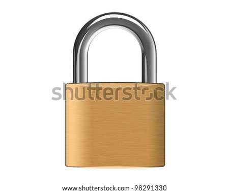 padlock isolated in white background
