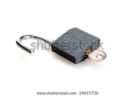 padlock isolated on a white background
