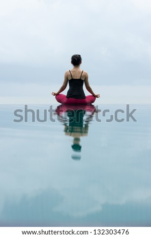 Padmasana Lotus position in yoga meditative position