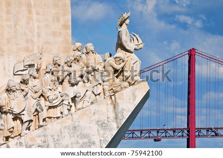 Padrao dos Descobrimentos (Monument to the Discoveries) celebrates the Portuguese who took part in the Age of Discovery, Lisbon, Portugal