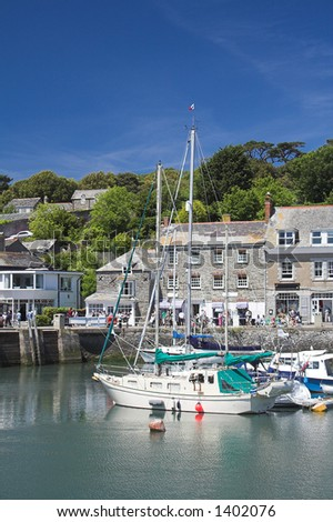 Padstow Harbour on a beautiful Summers day