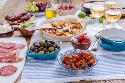 paella and tapas spanish authentic cousine