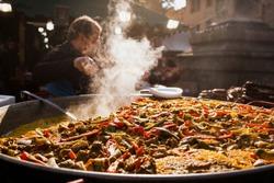paella spanish traditional food Valencia