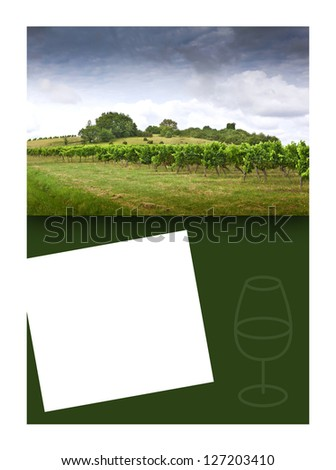 Page background for wine marketing