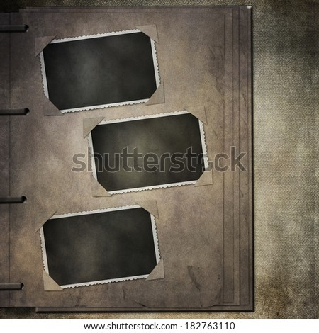Free Photos Old Photo Album Page With Frames And Corners Isolated On