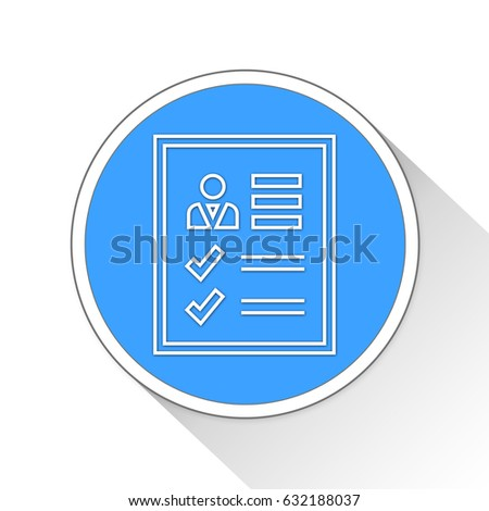Page Report Button Icon Business Concept