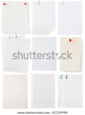 pages collection isolated on white