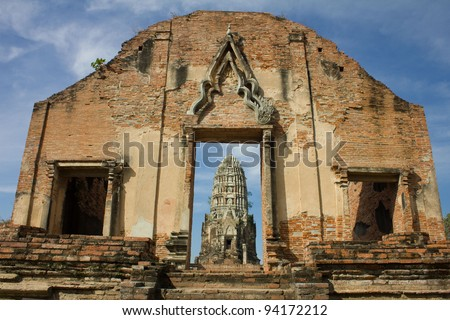 Pagoda at Wat Ratchaburana Temple, Ayutthaya, Thailand