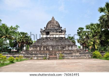 Pagoda in Luang prabang of Laos - stock photo