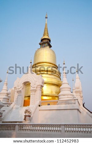 pagoda in thai temple ,Chiang Mai Province,Thailand