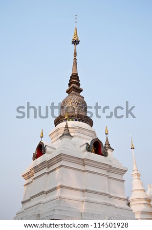 pagoda in thai temple,Chiang Mai Province,Thailand