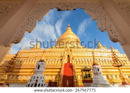 Pagoda shwedagon golden pagoda in Myanmar
