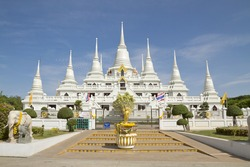 Pagoda wat asokaram,Pagoda Temple Thailand