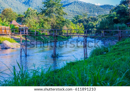 Shutterstock Pai river at Mae Hong Son province, Thailand.
