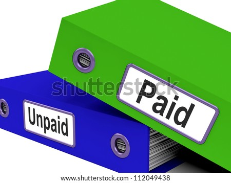 Paid Unpaid Files Showing Overdue Invoices And Bills