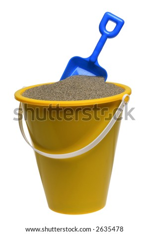 stock photo : Pail and shovel with sand