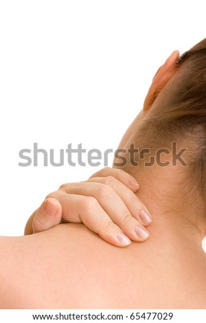 Pain in a neck at the woman