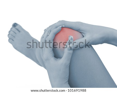 Pain in a woman knee