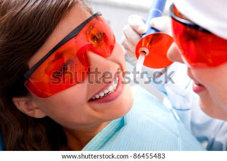 Painless dentistry is  young girl