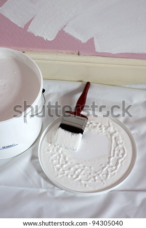 paint and brush for decorating