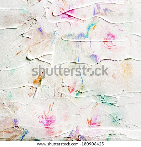 Paint background. Picture with rose. Painted canvas.