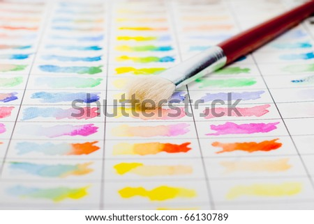 Paint brush and color palette.