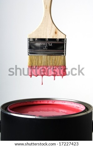Paint Brush over Paint can