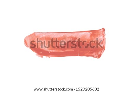 Paint Brush Stroke Texture pink Watercolor Spot Blotch Isolated.
