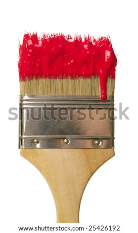 paint brush with color drop