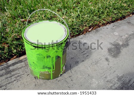Paint can - Green.
