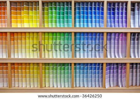 Paint chip color spectrum