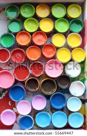 paint colors in the tubes
